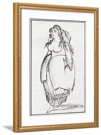 An 18th Century London Streetwalker. from Illustrierte Sittengeschichte Vom Mittelalter Bis Zur Geg--Framed Giclee Print