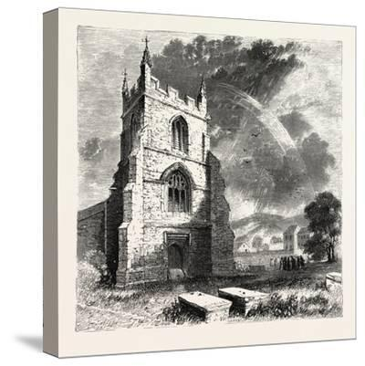 Bangor Cathedral. Bangor Cathedral Is an Ancient Place of Christian Worship Situated in Bangor--Stretched Canvas Print