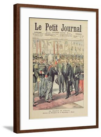 Arrival of the President of the French Republic--Framed Giclee Print