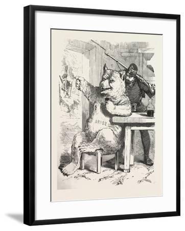 Bear Having a Glass of Wine--Framed Giclee Print
