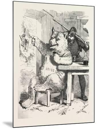 Bear Having a Glass of Wine--Mounted Giclee Print