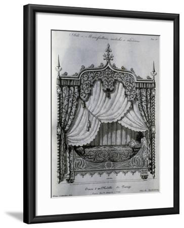 Alcove with Bed from Arti E Manifatture Antiche E Moderne (Ancient and Modern Arts and Manufacturer--Framed Giclee Print