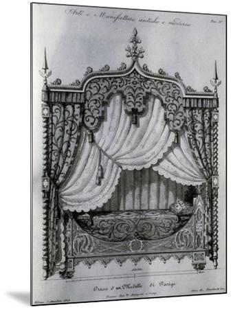 Alcove with Bed from Arti E Manifatture Antiche E Moderne (Ancient and Modern Arts and Manufacturer--Mounted Giclee Print