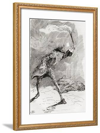 Barnaby Finds Edward.  the Figure of a Man Extended in an Apparently Lifeless State Upon the Pathwa--Framed Giclee Print
