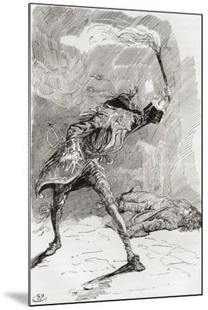 Barnaby Finds Edward.  the Figure of a Man Extended in an Apparently Lifeless State Upon the Pathwa--Mounted Giclee Print