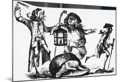 Anatomist Surprised by the Nightwatch Man While Transporting a Corpse in a Basket--Mounted Giclee Print