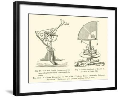 Arc with Double Compartment for Measuring the Shortest Distances of the Stars--Framed Giclee Print