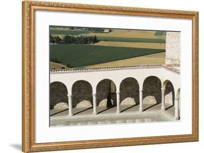 Arcade Along Lower Square--Framed Photographic Print