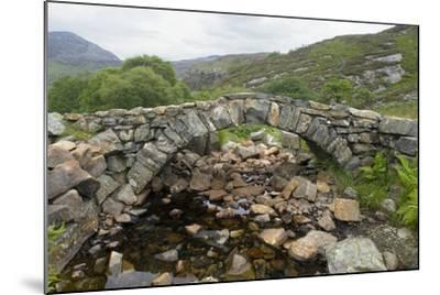 Ancient Arched Stone Bridge across Mountain Stream--Mounted Photographic Print