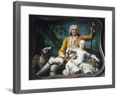 Autumn and Marquis Henri-Auguste--Framed Giclee Print