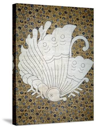 Bedspread Futonji Patterned Floral Print Calico--Stretched Canvas Print