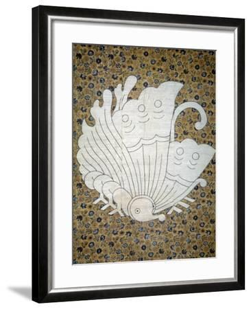 Bedspread Futonji Patterned Floral Print Calico--Framed Giclee Print
