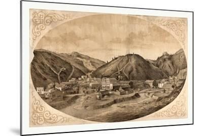 Bird's Eye View of Black Hawk Point--Mounted Giclee Print