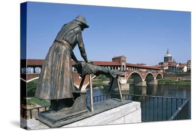 Bronze Washerwomen Monument--Stretched Canvas Print