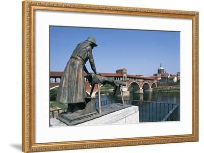 Bronze Washerwomen Monument--Framed Photographic Print