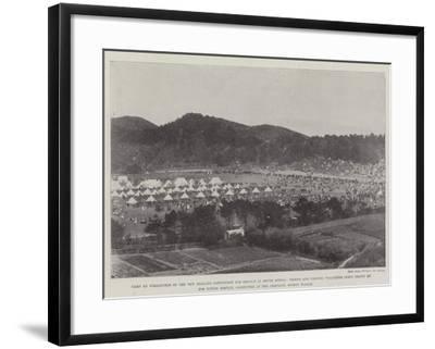 Camp at Wellington of the New Zealand Contingent for Service in South Africa--Framed Giclee Print