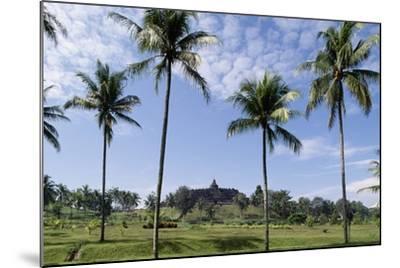 Buddhist Temple of Borobudur in Background (Unesco World Heritage List--Mounted Giclee Print