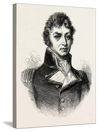 Captain (Afterwards Sir Philip) Broke. (From a Portrait Published in 1815.) His Most Notable Accomp--Stretched Canvas Print