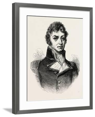 Captain (Afterwards Sir Philip) Broke. (From a Portrait Published in 1815.) His Most Notable Accomp--Framed Giclee Print