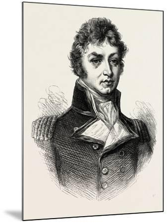 Captain (Afterwards Sir Philip) Broke. (From a Portrait Published in 1815.) His Most Notable Accomp--Mounted Giclee Print