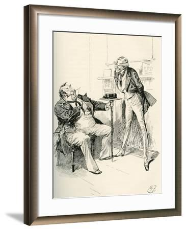Captain Cuttle and Mr. Carker. What Do You Think Now--Framed Giclee Print