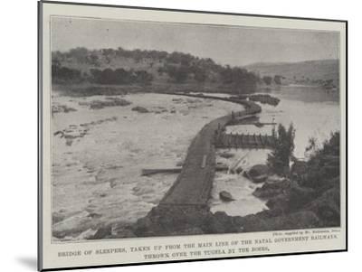 Bridge of Sleepers--Mounted Giclee Print