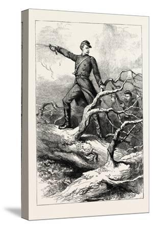 Captain Winthrop at Big Bethel--Stretched Canvas Print