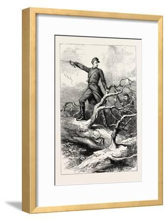 Captain Winthrop at Big Bethel--Framed Giclee Print