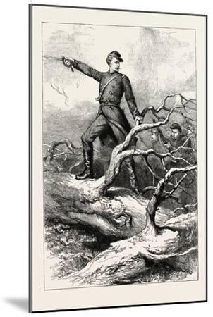 Captain Winthrop at Big Bethel--Mounted Giclee Print