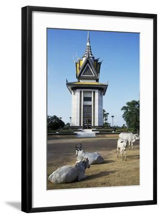 Cattle in Front of Choeung Ek--Framed Giclee Print