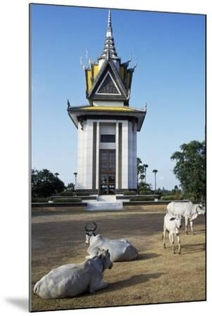 Cattle in Front of Choeung Ek--Mounted Giclee Print