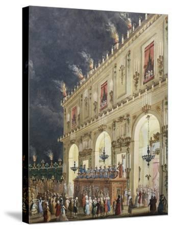 Celebration at Cascine in Honor of Ferdinand Iii--Stretched Canvas Print