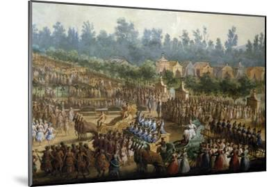 Celebration at Farmsteads in Honor of Ferdinand Iii--Mounted Giclee Print