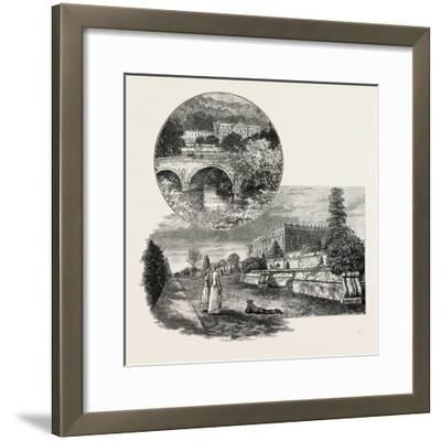 Chatsworth House Is a Stately Home in North Derbyshire--Framed Giclee Print