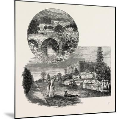 Chatsworth House Is a Stately Home in North Derbyshire--Mounted Giclee Print