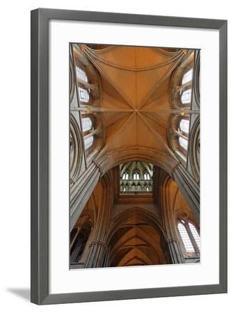 Double Barrel Vault of the Neo-Gothic Truro Cathedral (19th Century)--Framed Photographic Print