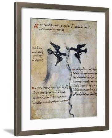 Depiction of Constantinople Between Two Ravens--Framed Giclee Print