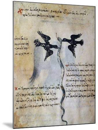 Depiction of Constantinople Between Two Ravens--Mounted Giclee Print