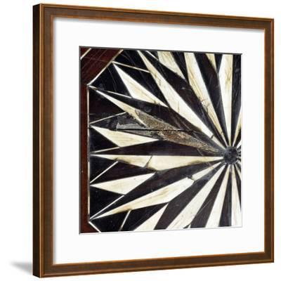 Dining Table with Original 17th Century Carved Inlay on Top and Legs Which Were Remade in 19th Cent--Framed Giclee Print