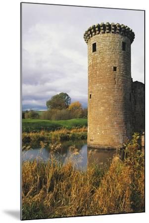 Circular Flanking Tower Along Walls of Caerlaverock Castle--Mounted Photographic Print
