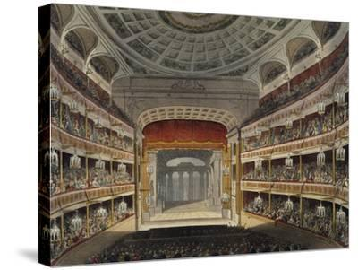 Concert at New Covent Garden Theatre in London--Stretched Canvas Print