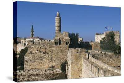 Citadel and Tower of David (Founded in 2nd Century BC)--Stretched Canvas Print