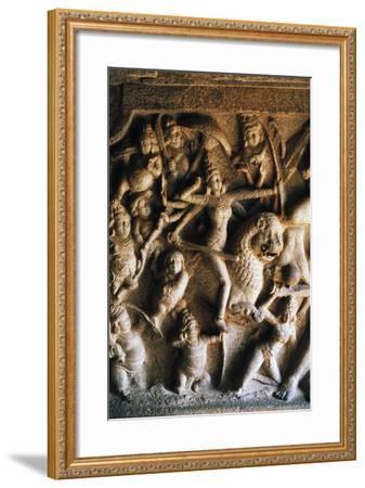 Durga Slaying Demon Mahisha Giclee Print by | Art com