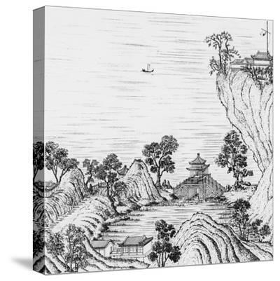 Detail of the Gardens of the Chinese Emperor--Stretched Canvas Print