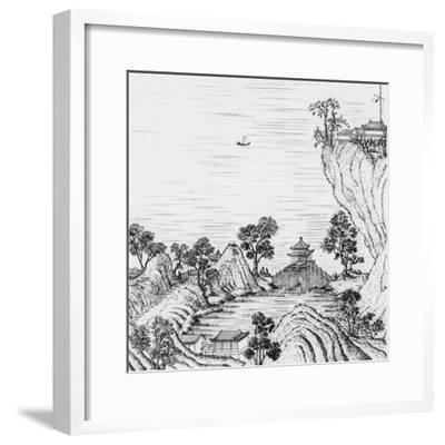 Detail of the Gardens of the Chinese Emperor--Framed Giclee Print