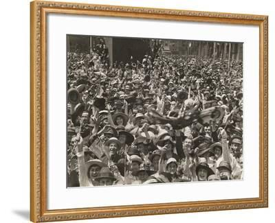 Crowd in Martin Place--Framed Giclee Print