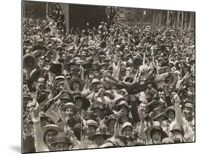 Crowd in Martin Place--Mounted Giclee Print