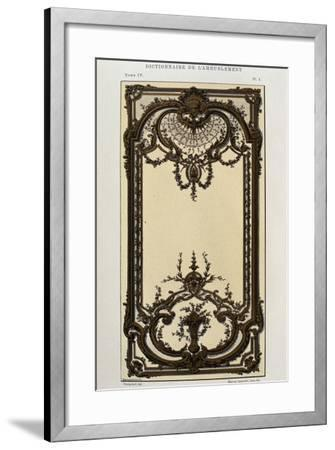 Decorative Panel in Painted and Gilded Wood in Great Hall of Palace in Roquelaure--Framed Giclee Print