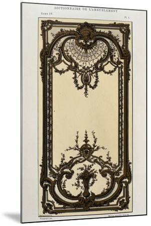 Decorative Panel in Painted and Gilded Wood in Great Hall of Palace in Roquelaure--Mounted Giclee Print