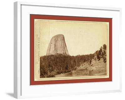 Devil's Tower. Devil's Tower or Bear Lodge. (Mato [I.E. Mateo] Tepee of the Indians)--Framed Giclee Print